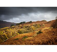 A Stormy Autumn Day Photographic Print