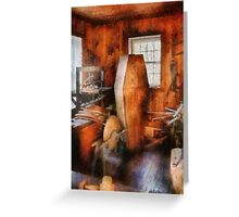 Death - The Coffin Maker Greeting Card