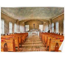 Church - Inside a church Poster