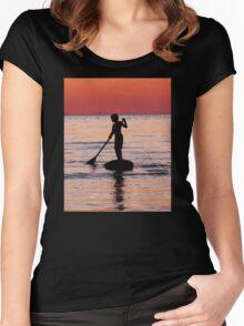 Dusk Float - Sunset Art Women's Fitted Scoop T-Shirt