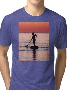 Dusk Float - Sunset Art Tri-blend T-Shirt
