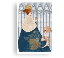Joan of Arc - french king Canvas Print