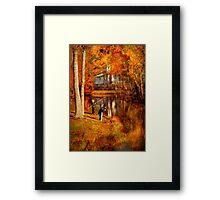 Autumn - Gone Fishing Framed Print