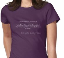 Guilty Mother's thought for the day #6 Womens Fitted T-Shirt