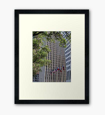 Houston Skyscraper Framed Print