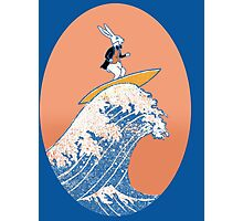 White Rabbit Surfing Photographic Print