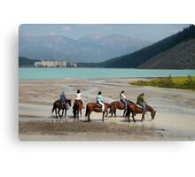 Lake Louise by Horse Canvas Print