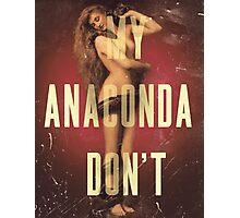 My Anaconda DON'T Photographic Print