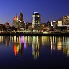 Evening Walk - Cincinnati Night Scene by Tony Wilder