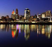 Evening Walk - Cincinnati Night Scene by Tony Wilder