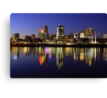Evening Walk - Cincinnati Night Scene Canvas Print