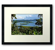 Tropical landscape with island Framed Print