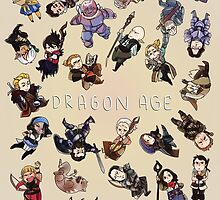 Dragon Age Party members by t3hb33
