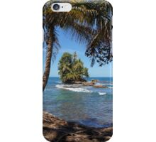 Small tropical island with coconut palm trees iPhone Case/Skin