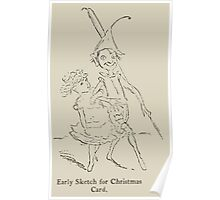 Kate Greenaway Collection 1905 0169 Early Sketch for Christmas Card Poster