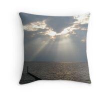 Mandeville Lakefront Sunsplash Throw Pillow