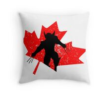 Canadian Wolverine Throw Pillow