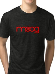 Moog Synth Red Tri-blend T-Shirt