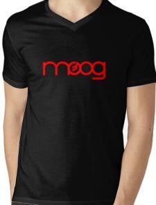Moog Synth Red Mens V-Neck T-Shirt