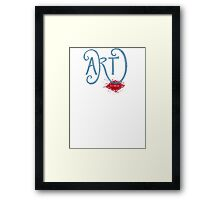 Art- It's Messy Framed Print