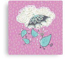 Umbredrops: Pink Family Canvas Print