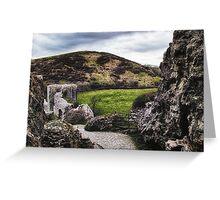Path through the ruins Greeting Card