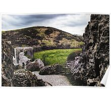 Path through the ruins Poster