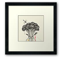 Mr. Broccoli Framed Print