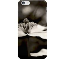 Clematis flower (in black and white) iPhone Case/Skin