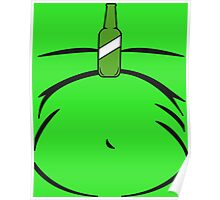 Boozy Beer Belly Balancing Bottle on Tummy Poster