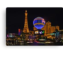 Eiffel Tower in LV Canvas Print