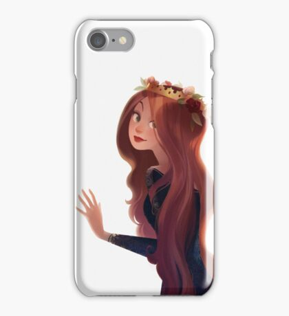 Red Hair and Roses iPhone Case/Skin