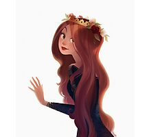 Red Hair and Roses Photographic Print