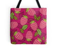 Pink raspberries Tote Bag