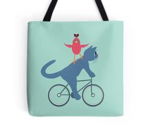 Three On A Bike - Ta Da! Tote Bag