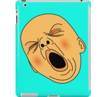 Yawning Baby Bald Man Bored at Work iPad Case/Skin