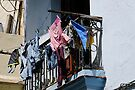 Washday blues, Old Havana, Cuba by David Carton