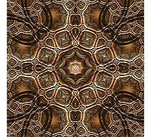 Fractal Steel Tube Earth Tone Chisel Photographic Print