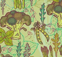 Green vegetables pattern. Sticker