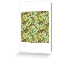 Green vegetables pattern. Greeting Card