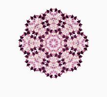 Flower Mandala PINK Womens Fitted T-Shirt