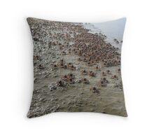 Crab invasion Throw Pillow