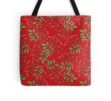 Red rowan pattern. Tote Bag