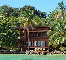 Tropical waterfront beach house by Dam - www.seaphotoart.com