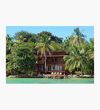 Tropical waterfront beach house Photographic Print