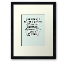 Second Breakfast Lord of the Rings Framed Print