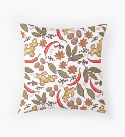 Spices pattern Throw Pillow