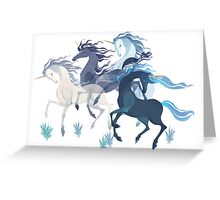 Unicorns Pattern Greeting Card