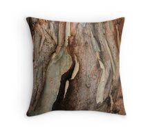 Gum tree bark Throw Pillow