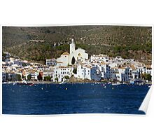 Typical coastal Mediterranean village in Spain Poster